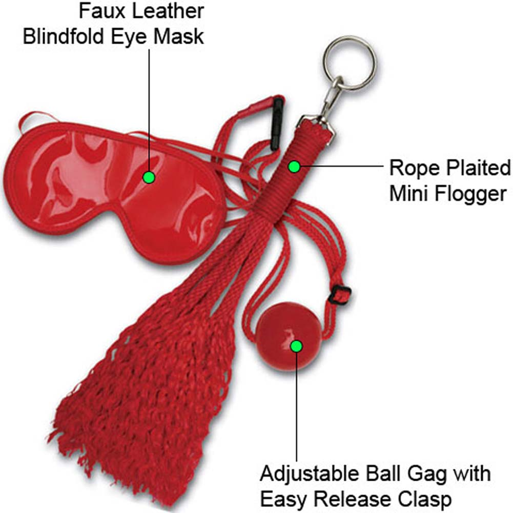 Japanese Silk Love Rope Concubine BDSM Bondage Kit Red - View #1