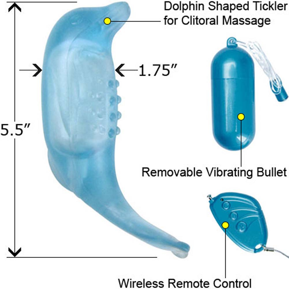 Climax Remotes 8X Dolphin Dive G-Spot Jelly Vibe Blue - View #1