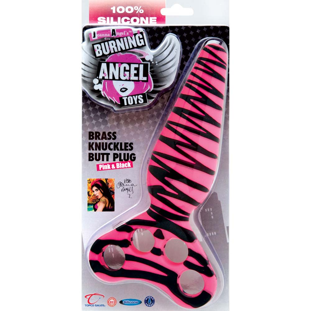 "Burning Angel Brass Knuckles Silicone Butt Plug 7.75"" - View #3"