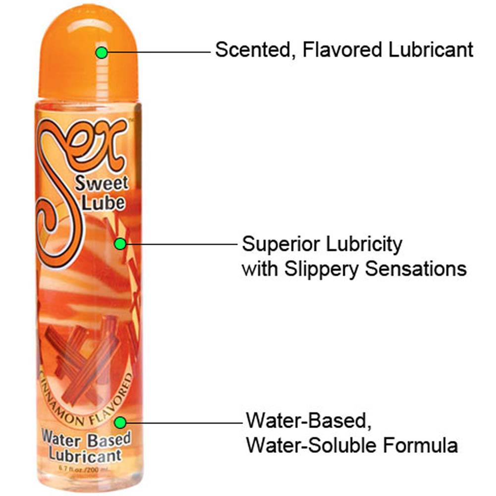 Sex Sweet Water Based Lube Cinnamon Flavored 6.7 Fl. Oz. - View #1