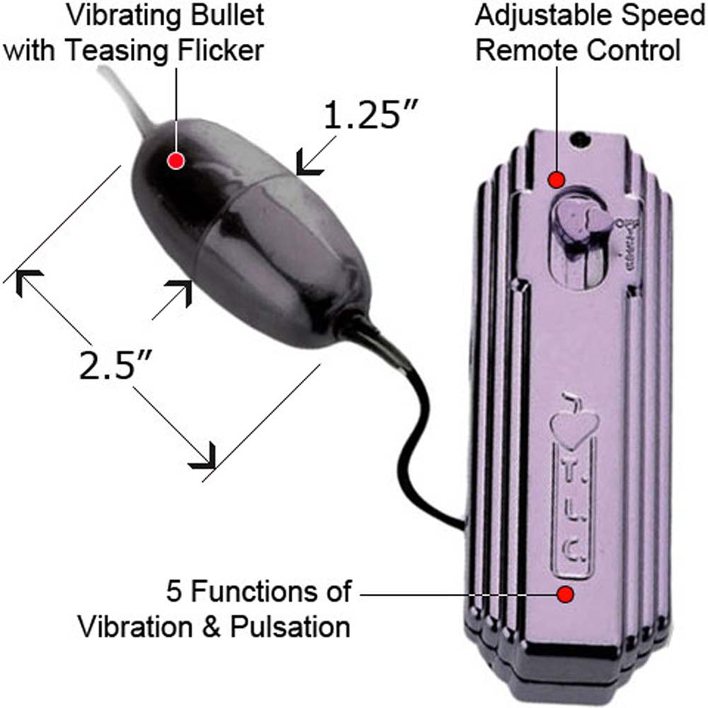 "JelLee Flicker 5X Vibrating Bullet 2.5"" Metallic Lilac - View #1"