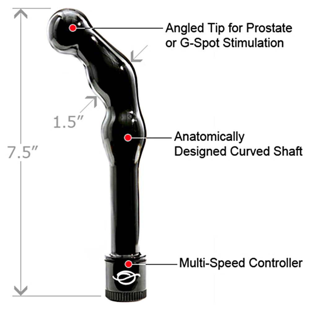 "Sinclair Select VERVE Vibrating Prostate Massager for Men 7.5"" Black - View #1"