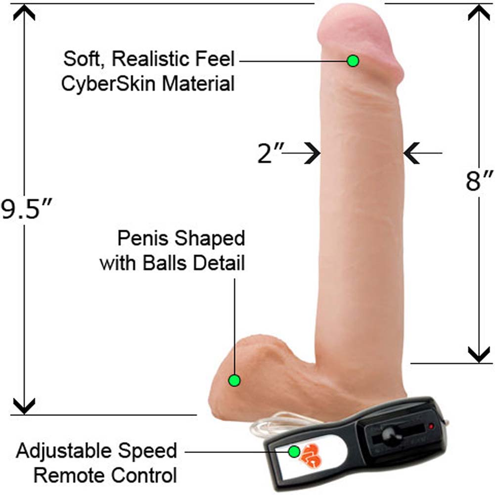 "CyberSkin CyberCock with Balls Vibrating Biggie 9.5"" - View #1"