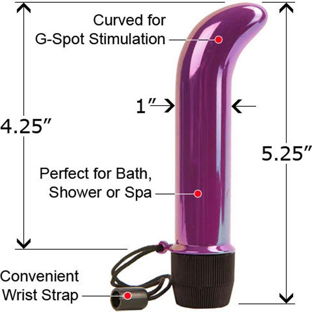 "Aqua G Waterproof G-Spot Vibe 5.25"" Iridescent Purple - View #1"