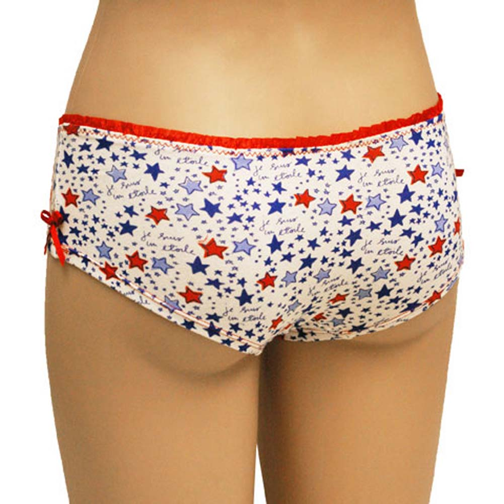 Star Print Boyshort Panty with Sexy Bow Junior Medium - View #2