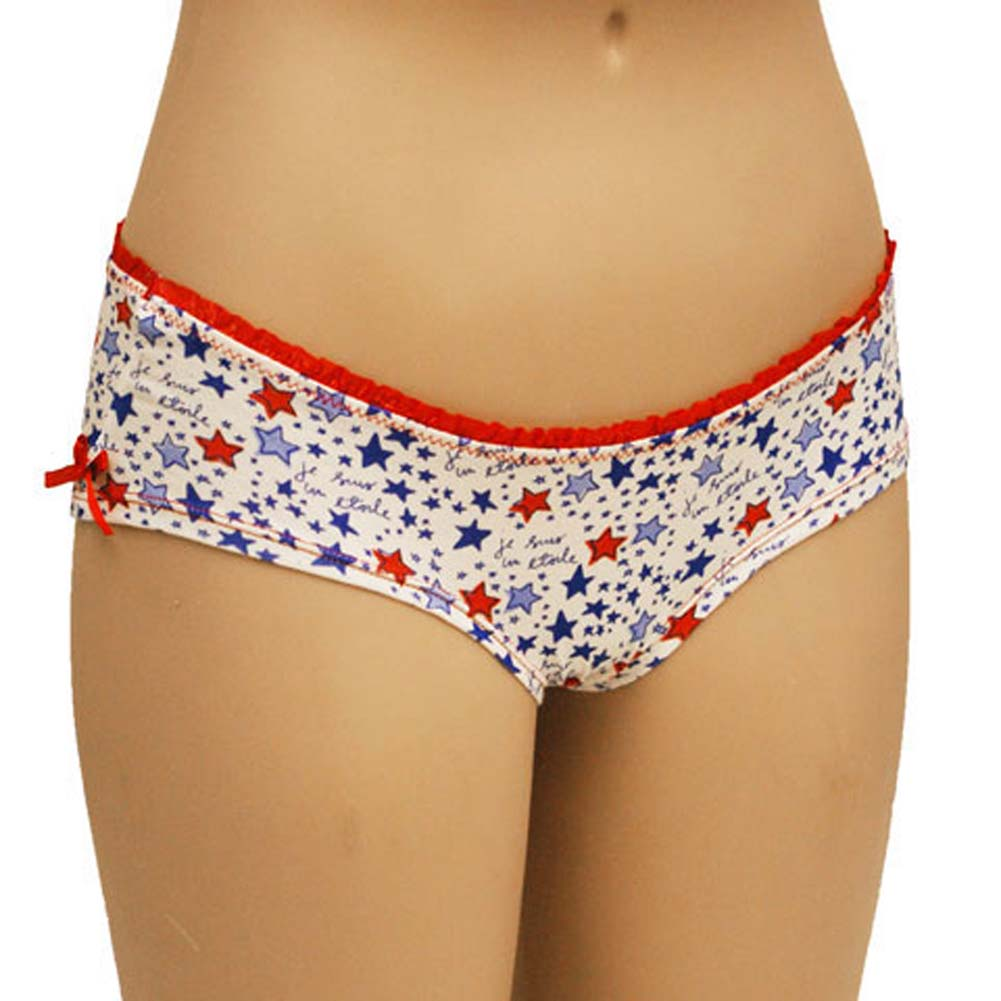 Star Print Boyshort with Bow Junior Large - View #1