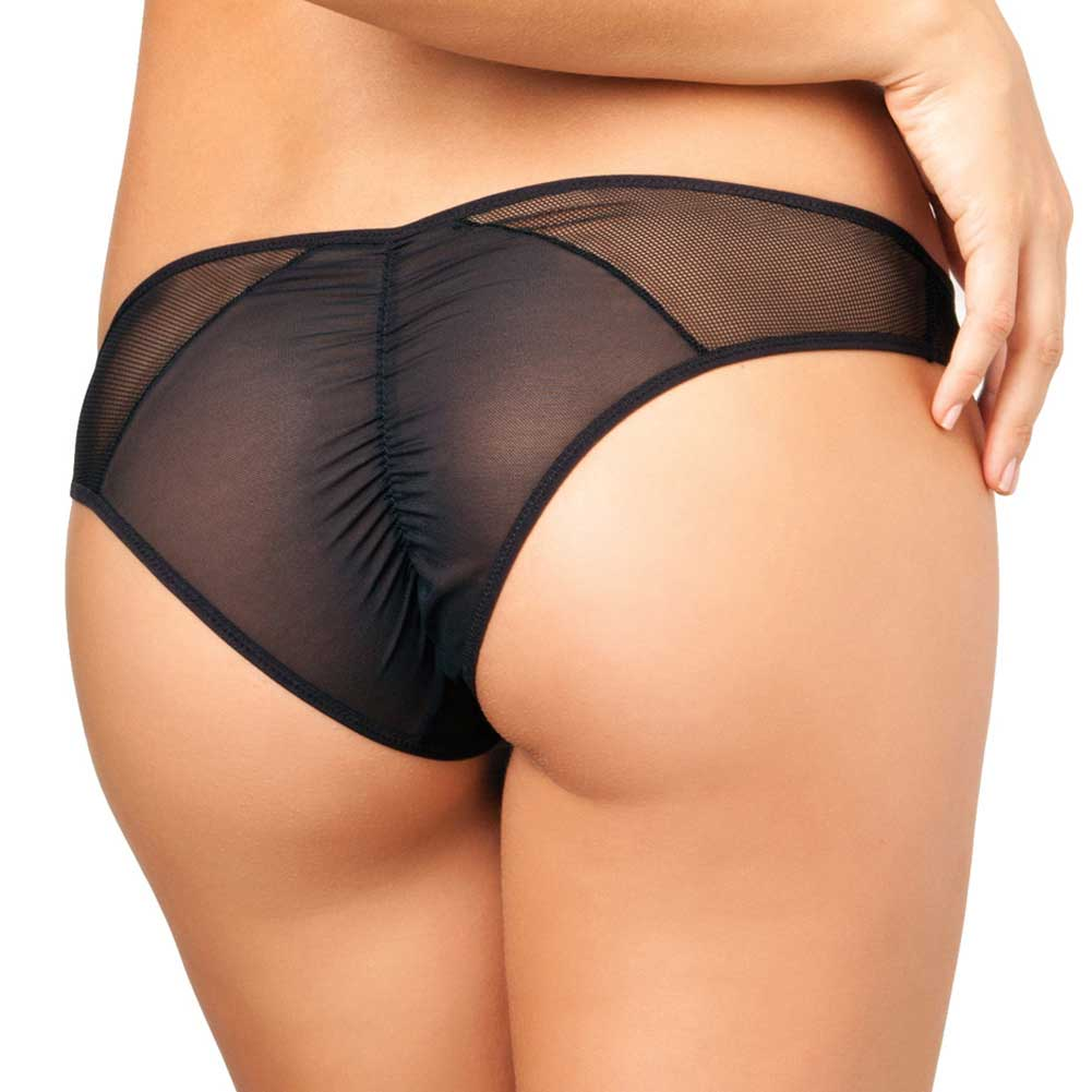 Rene Rofe Crotchless Fishnet Panty Medium/Large Black - View #2
