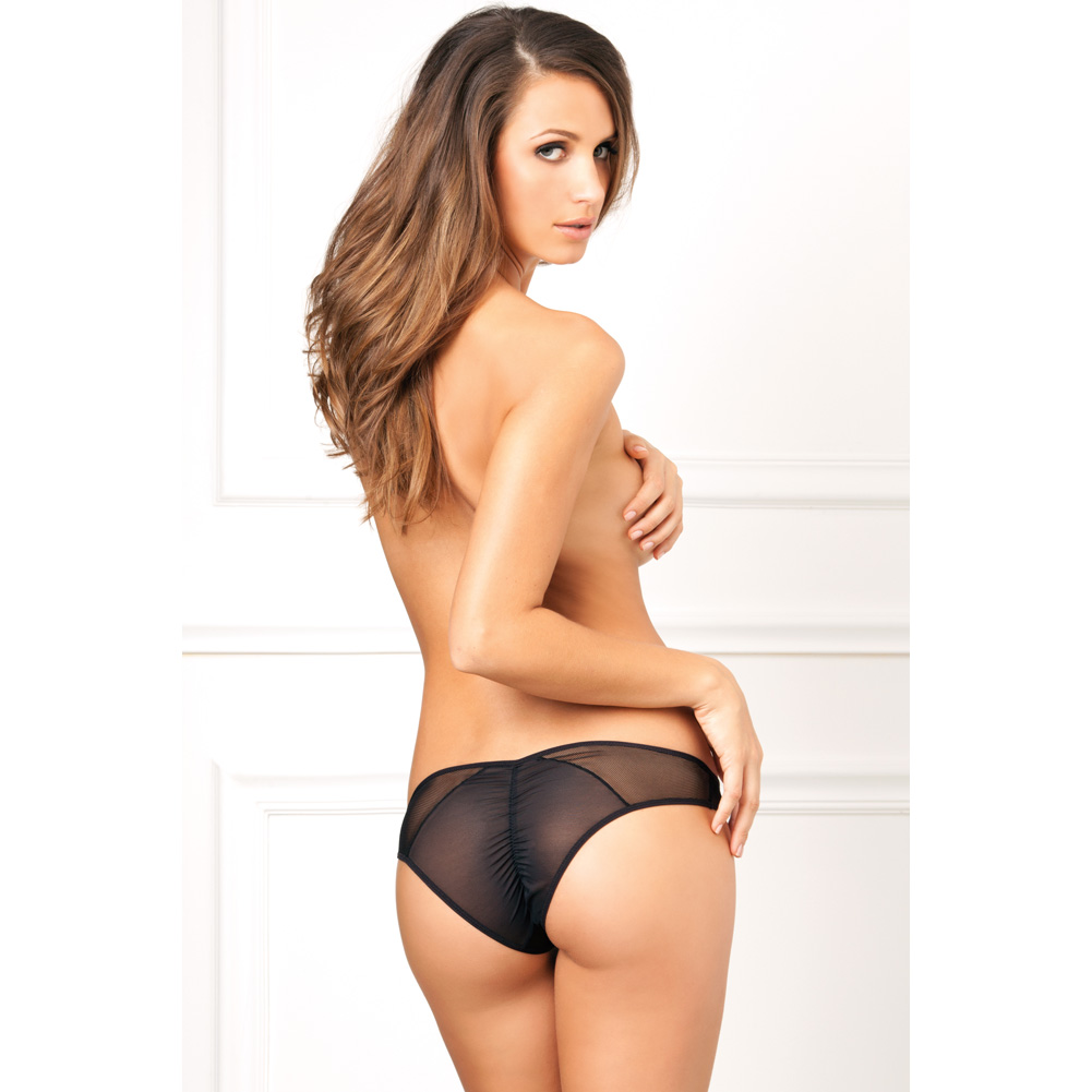 Rene Rofe Crotchless Fishnet Panty Medium/Large Black - View #4