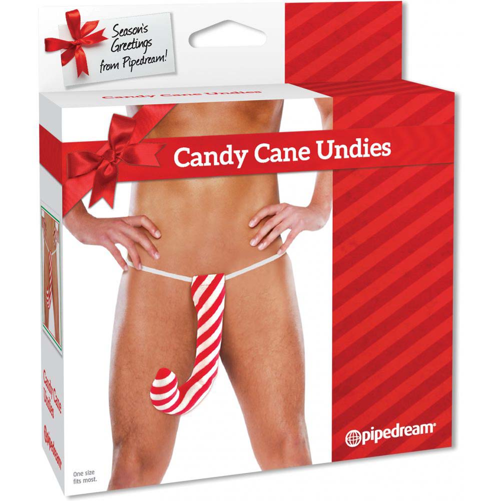 Xmas Candy Cane Undies for Men - View #2