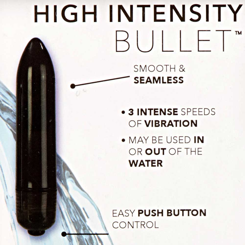 "California Exotics High Intensity Waterproof Bullet Vibrator 3.25"" Kinky Black - View #1"