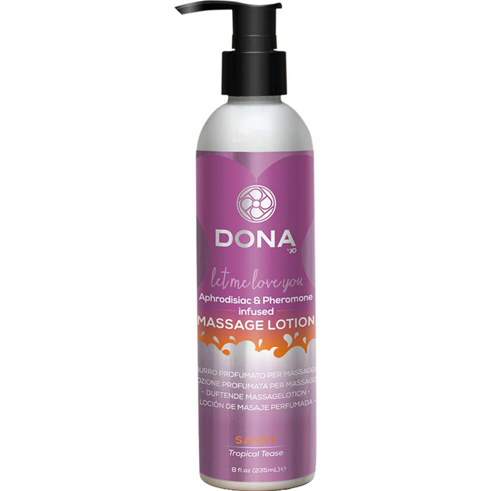 DONA Massage Lotion Sassy Aroma - Tropical Tease - 8 Oz. - View #1