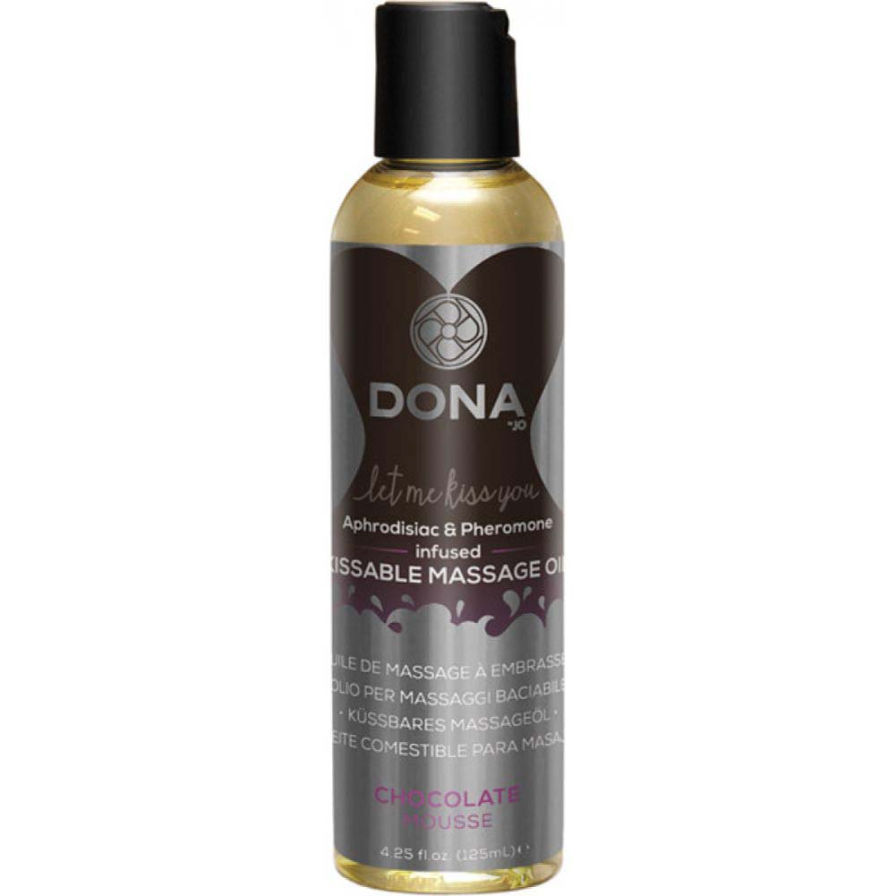 DONA Kissable Massage Oil - Chocolate Mousse - 4.25 Oz. - View #1