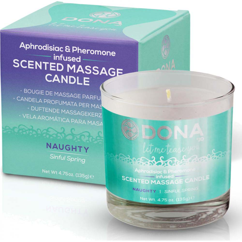DONA Scented Massage Candle Naughty Aroma - Sinful Spring - 4.75 Oz. - View #1
