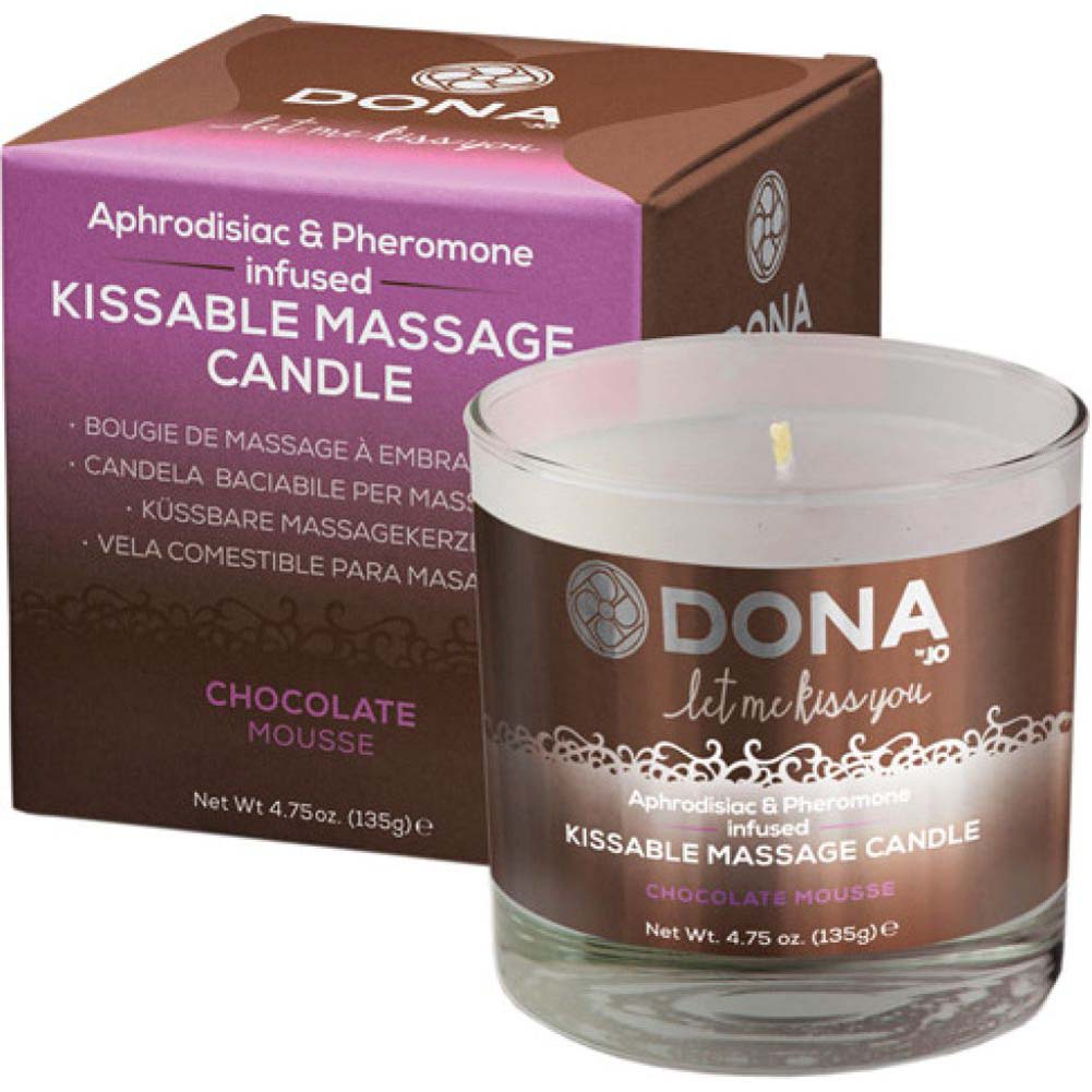 DONA Kissable Massage Candle - Chocolate Mousse - 4.75 Oz. - View #1