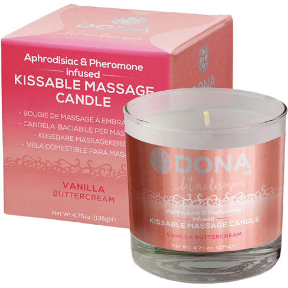 DONA Kissable Massage Candle - Vanilla Buttercream - 4.75 Oz. - View #2