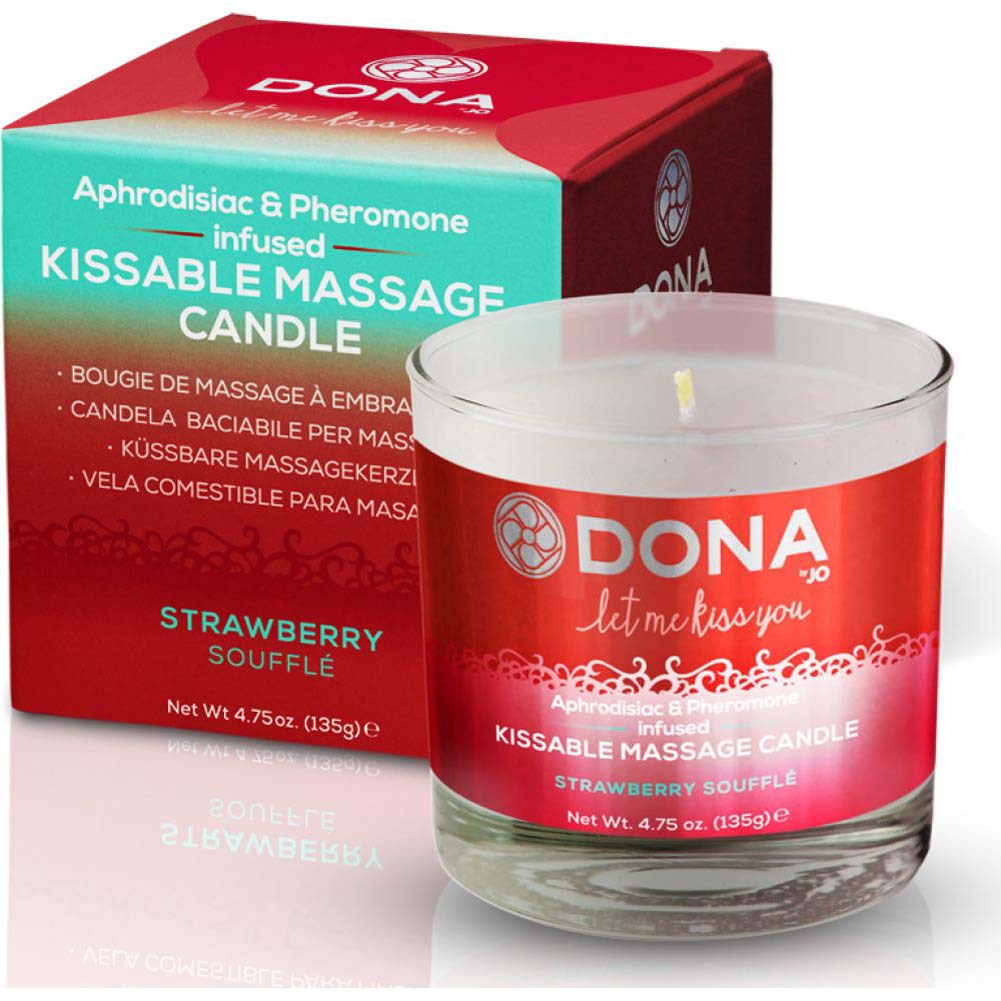 DONA Let Me Kiss You Massage Candle Strawberry Souffle - View #1