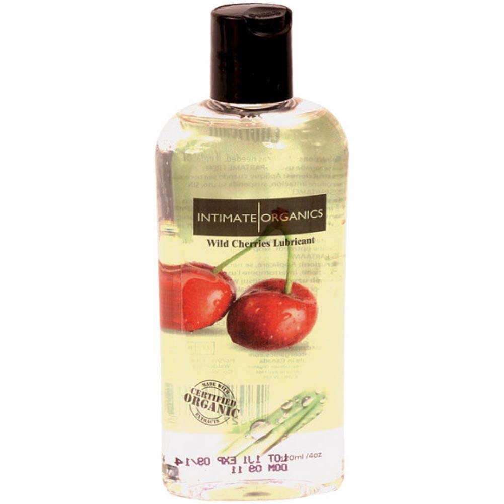 Intimate Organics Flavored Personal Lubricant 4 Fl.Oz 120 Ml Wild Cherries - View #1