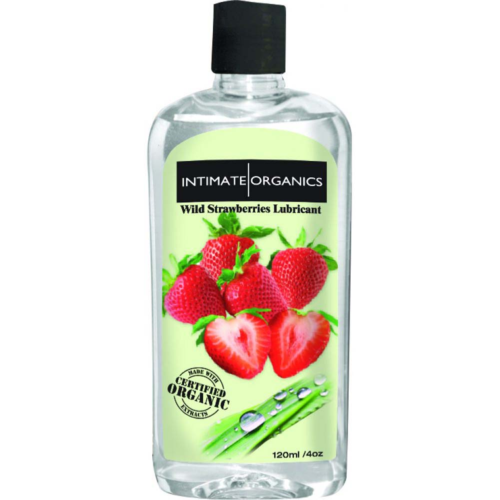 Intimate Organics Flavored Personal Lubricant 4 Fl.Oz 120 Ml Wild Strawberries - View #2