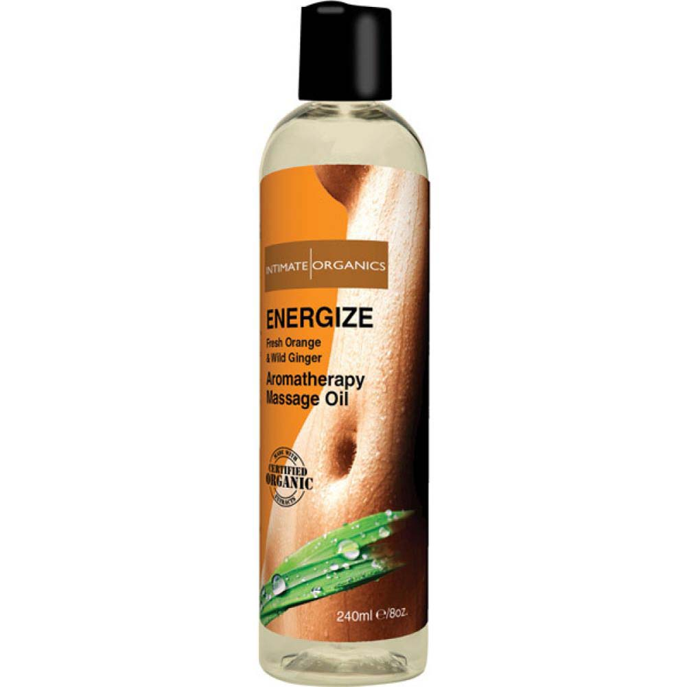 Intimate Organics Energize Aromatherapy Massage Oil 8 Fl.Oz Fresh Orange and Wild Ginger - View #2