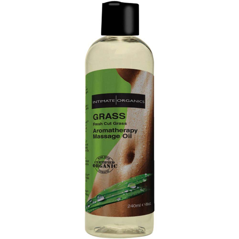 Intimate Organics Grass Aromatherapy Massage Oil 8 Fl.Oz Fresh Grass - View #1