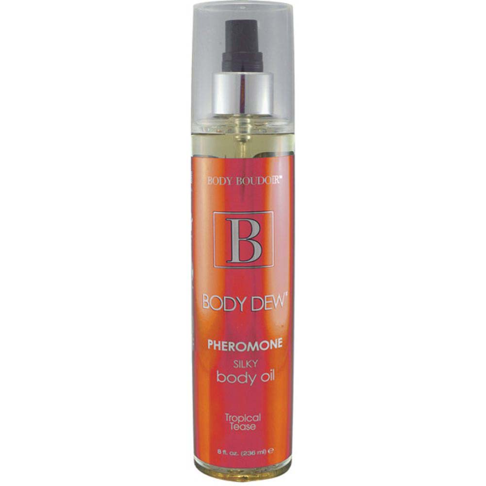 Body Dew Pheromone Silky Body Oil 8 Fl.Oz Tropical Tease - View #2