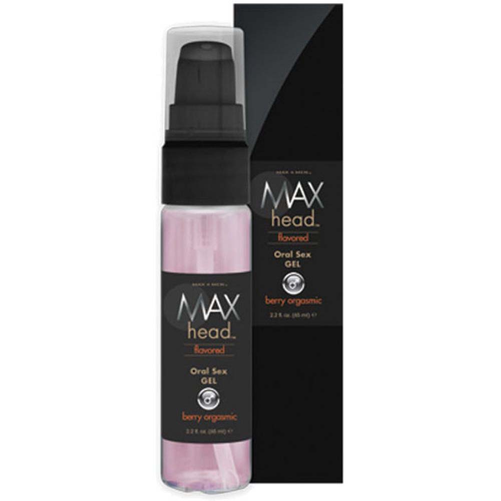 Max 4 Men Max Head Flavored Oral Sex - Berry Orgasmic - 2.2 Oz. Boxed - View #2