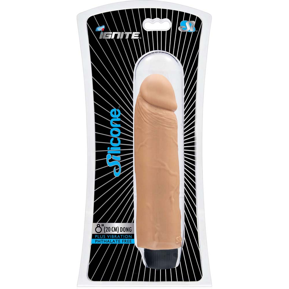"SI Novelties Ignite Realistic Vibrating Silicone Dong 8"" Flesh - View #1"
