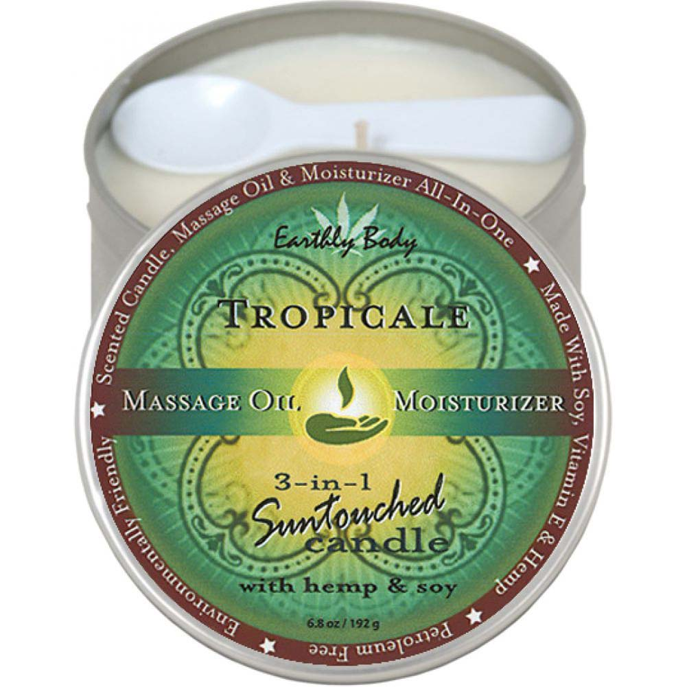Earthly Body Tropical 3-in-1 Suntouched Fragrant Candle With Hemp 6.8 Oz. - View #1