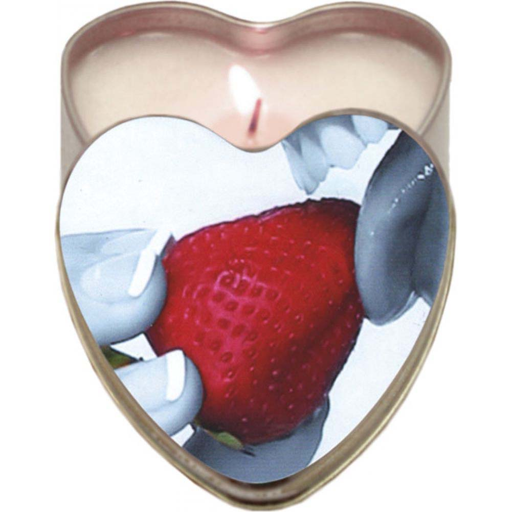 Earthly Body Suntouched Hemp Edible Candle 4.7 Oz Heart Tin Strawberry - View #2