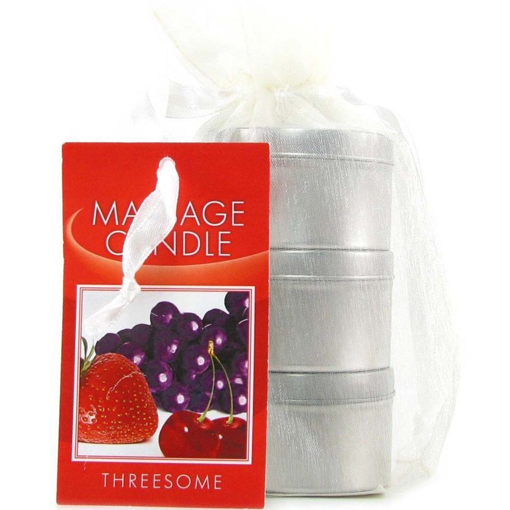 Earthly Body Edible Candle Threesome Gift Set Assorted Flavors Bag of 3 Candles - View #4