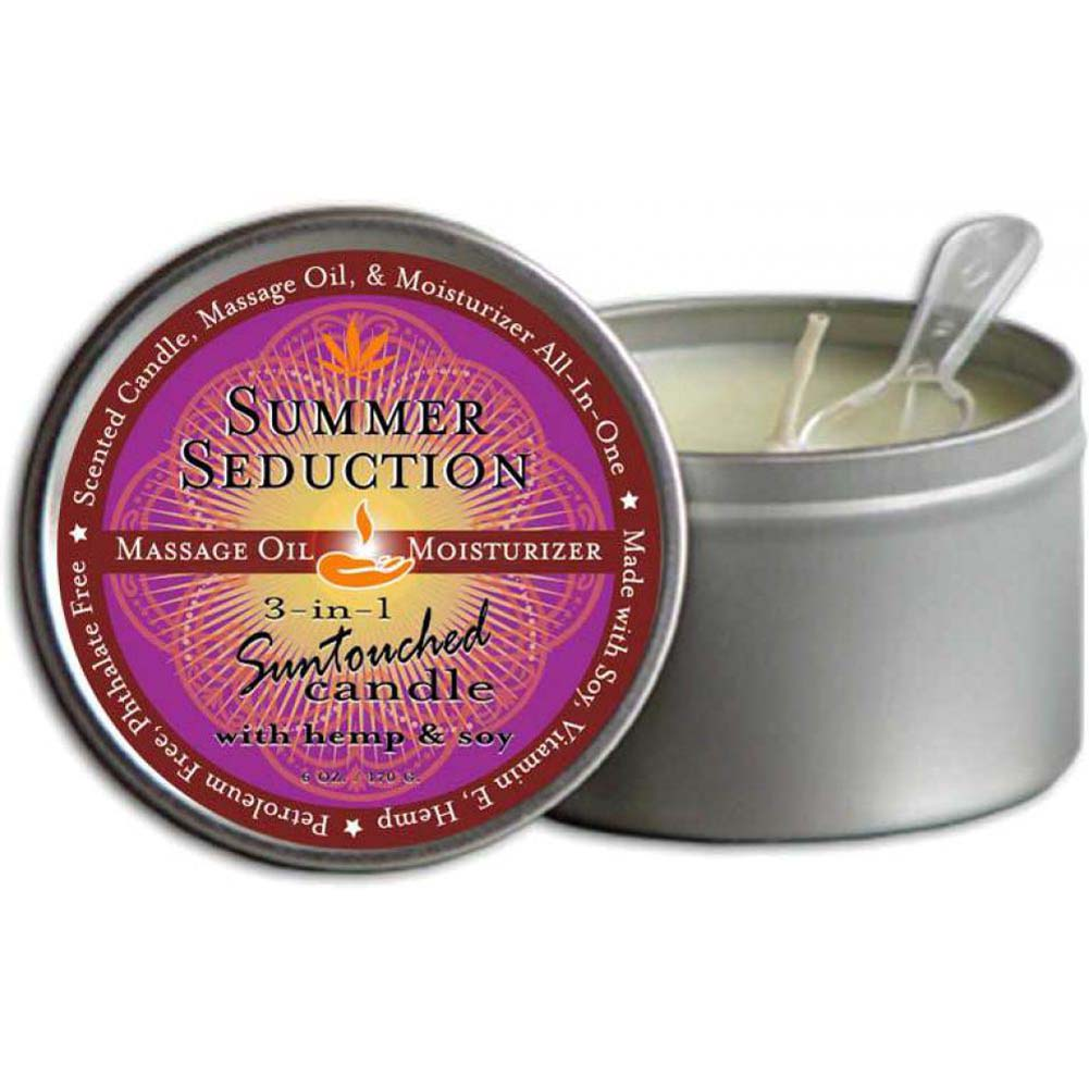 Earthly Body Summer Seduction 3-in-1 Suntouched Fragrant Candle With Hemp 6 Oz. - View #1