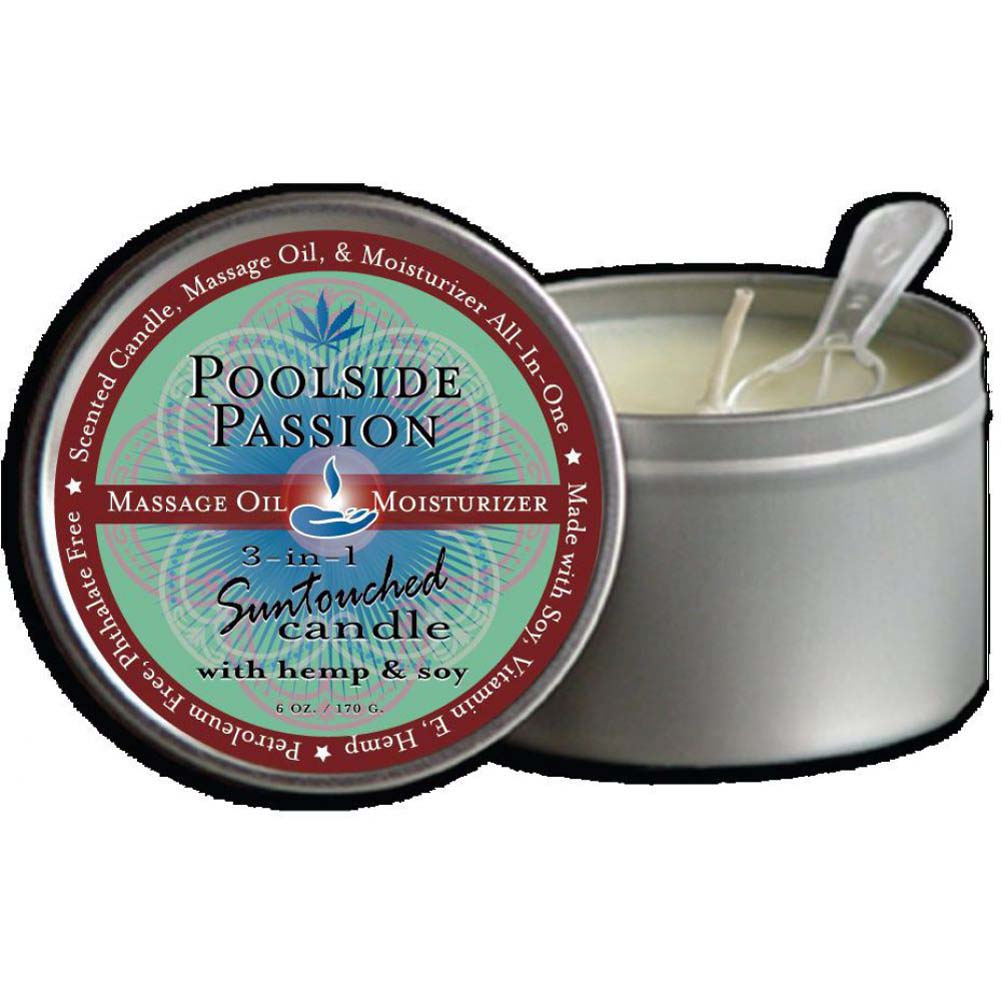 Earthly Body Poolside Passion 3-in-1 Suntouched Fragrant Candle With Hemp 6 Oz. - View #1