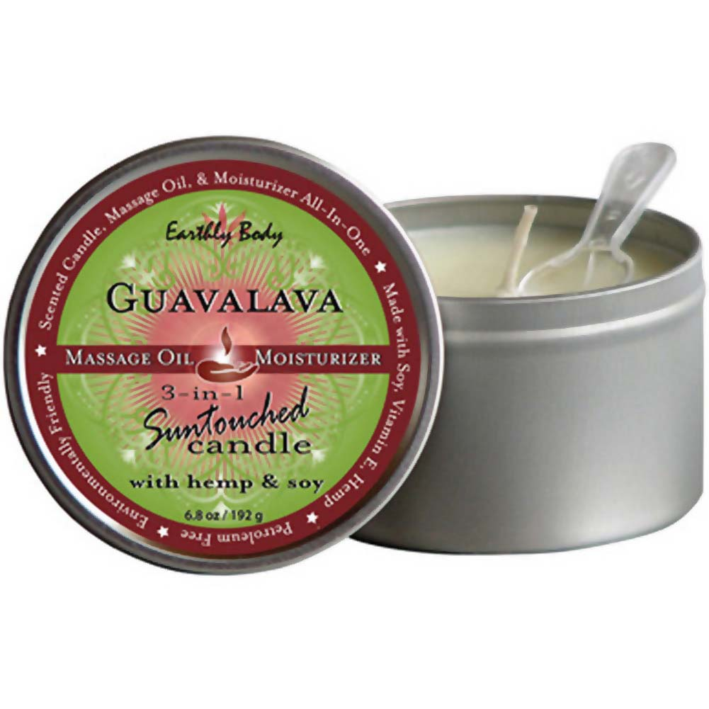 Earthly Body Guavalava 3-in-1 Suntouched Fragrant Candle With Hemp 6.8 Oz. - View #1
