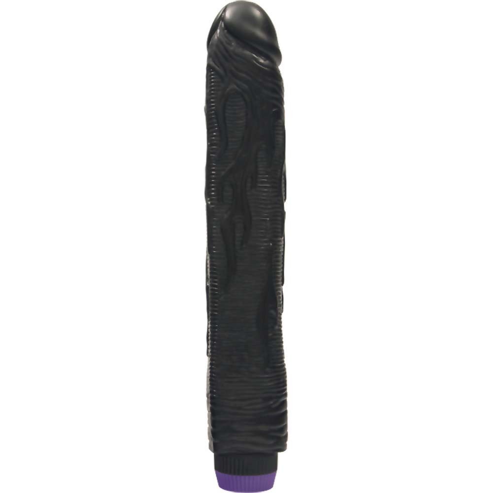 "Hot Rod Large Vibrating Cock 10"" Kinky Black - View #2"