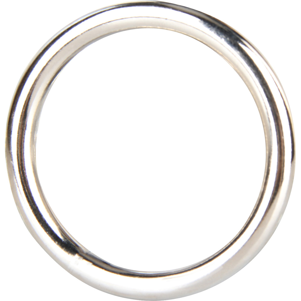 "Blue Line C and B Gear Steel Cock Ring 1.8"" Silver - View #2"