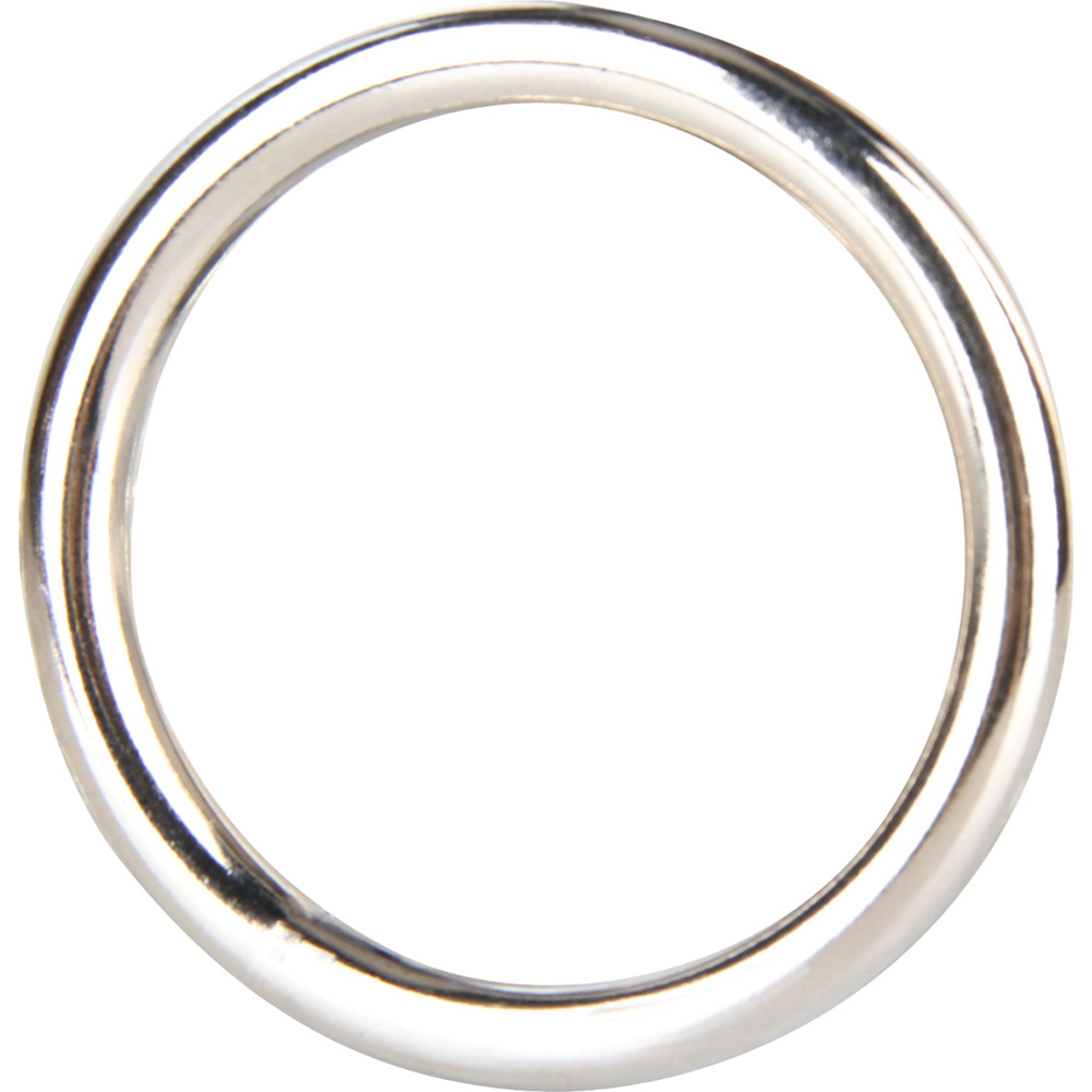 """Blue Line C and B Gear Steel Cock Ring 2"""" 5 Cm Silver - View #1"""