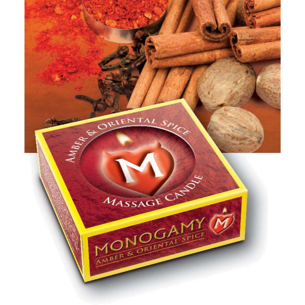 Monogamy Small Massage CandleSteamy Amber And Oriental - View #2