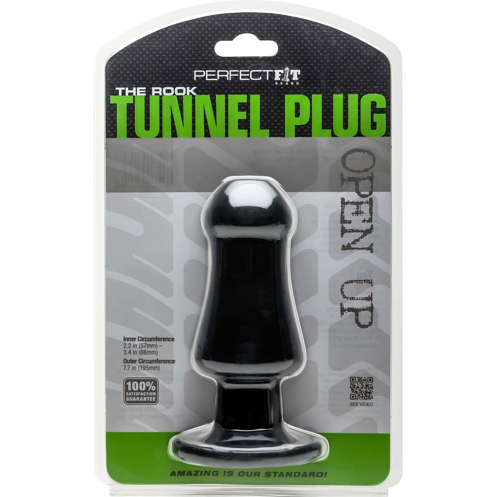 "Perfect Fit Rook Tunnel Plug 7.5"" Black - View #1"