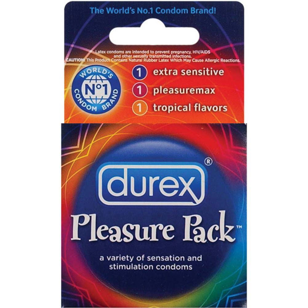 Durex Pleasure Pack Assorted Premium Lubricated Condoms 3 Pack - View #2
