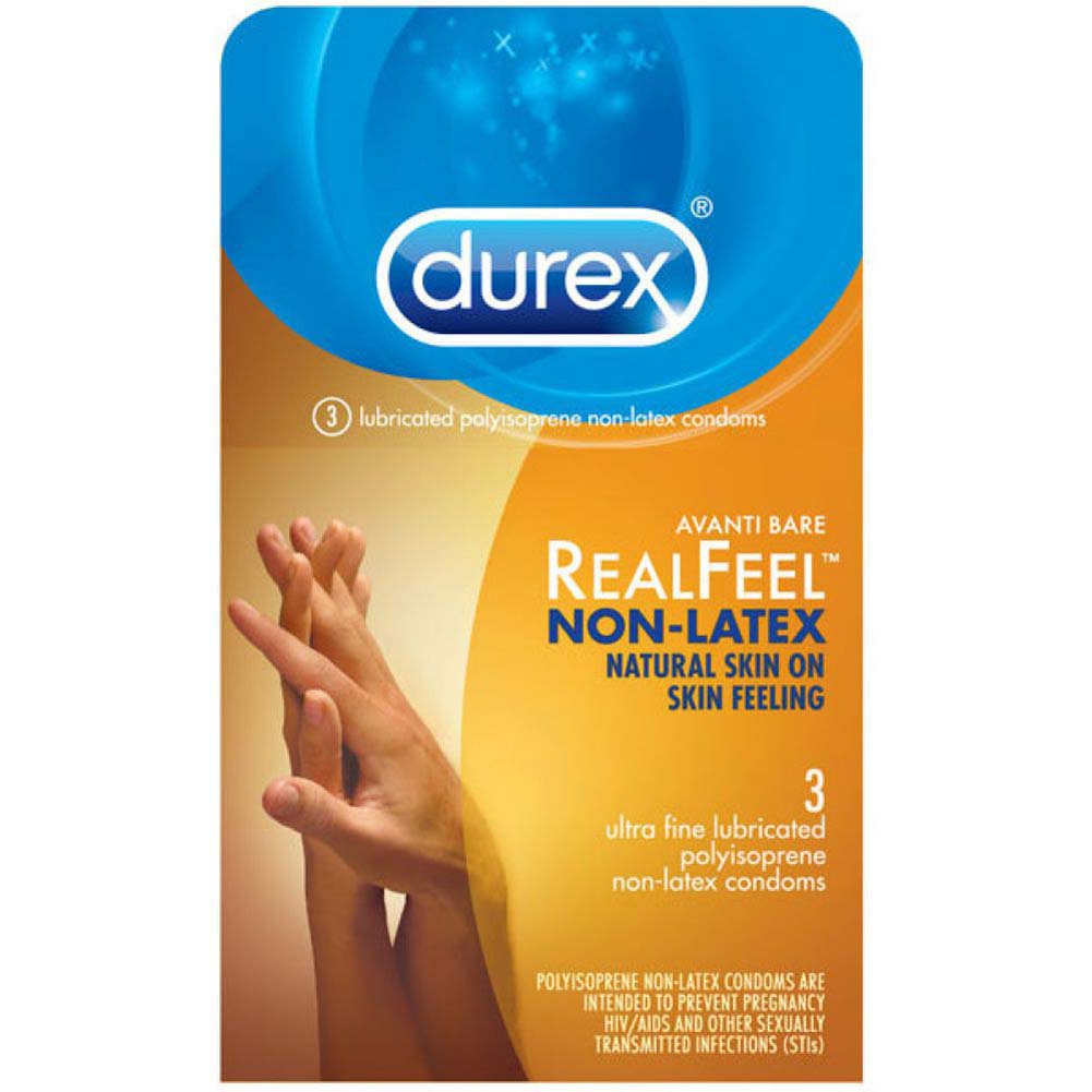 Durex Avanti Bare Real Feel Polyisoprene Non Latex Lubricated Condoms 3 Pack - View #1