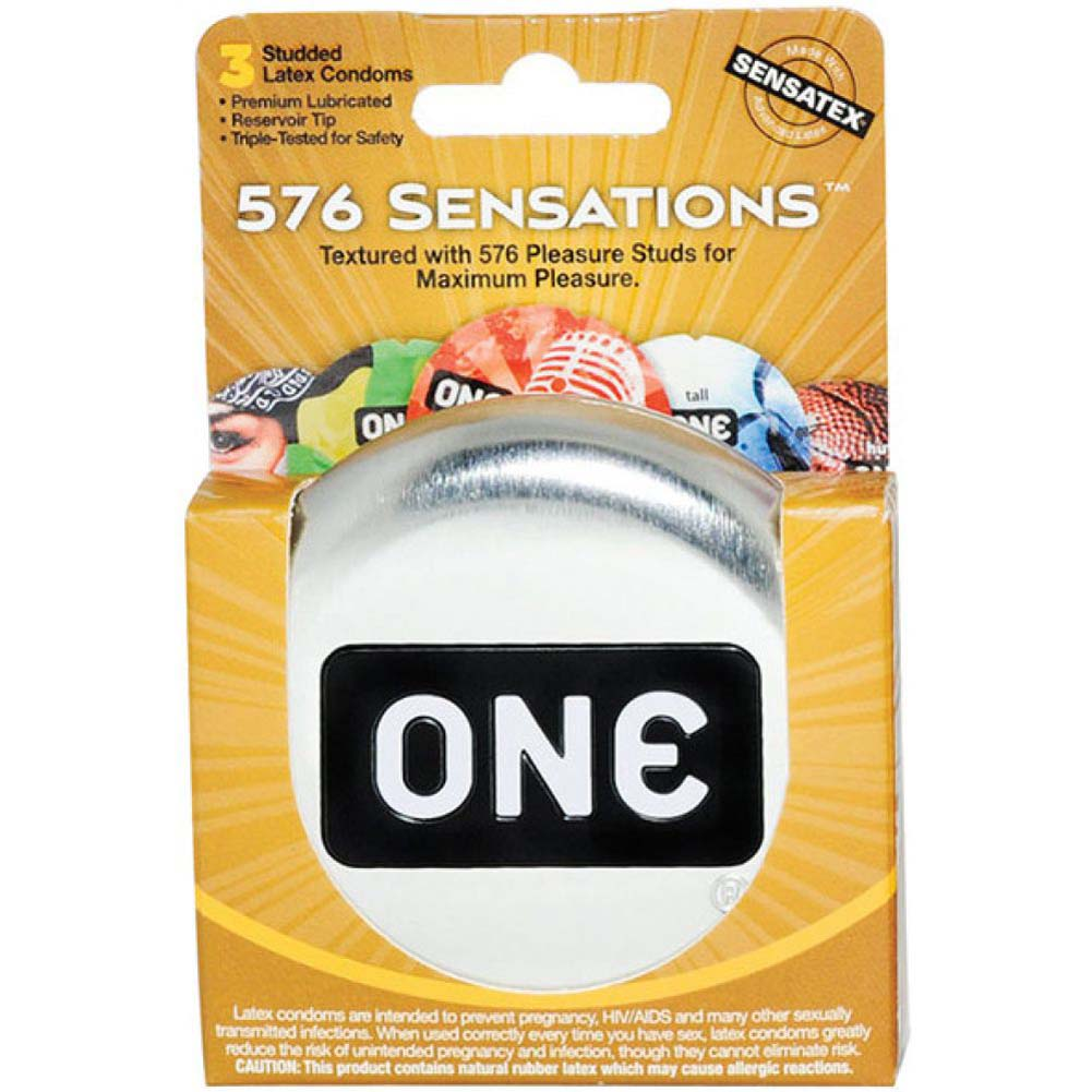 One 576 Sensations Condoms 3 Pack - View #1