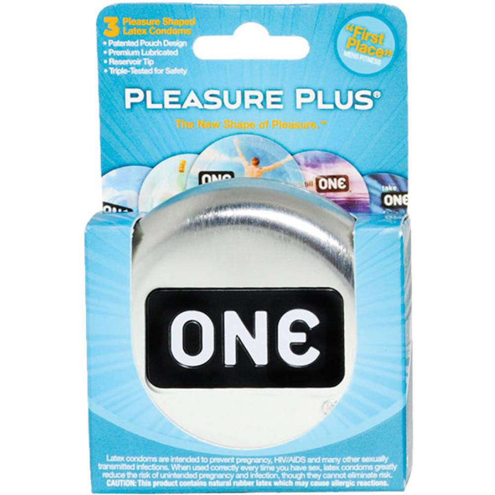 ONE Pleasure Plus Condoms 3 Pack - View #1
