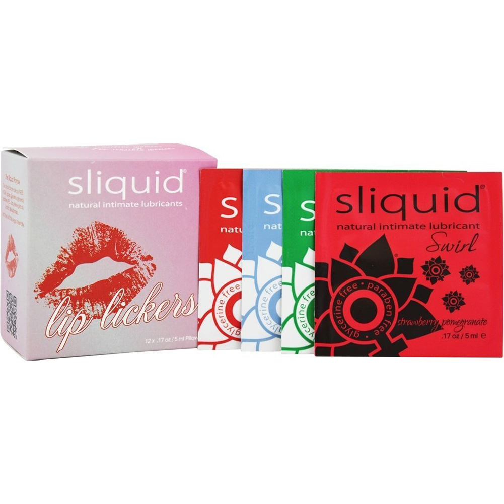 Sliquid Naturals Swirl Flavored Lubricant Lip Licker Cube 12 Pack - View #2
