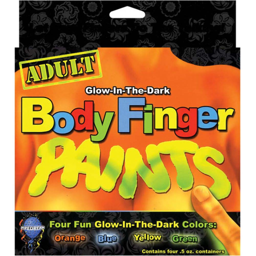 Adult Body Finger Paints Glow in the Dark 4 Fun Colors - View #2