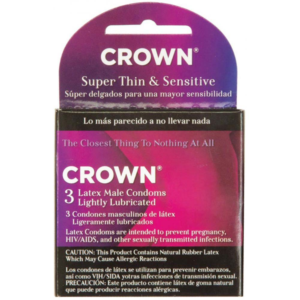 Beyond Seven Crown Latex Condoms 3 Pack - View #1