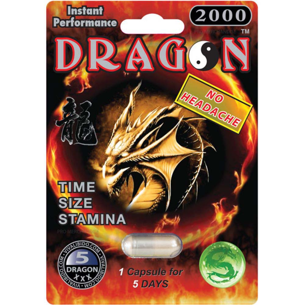 Dragon 2000 Male Sexual Enhancement 1 Capsule Blister - View #1