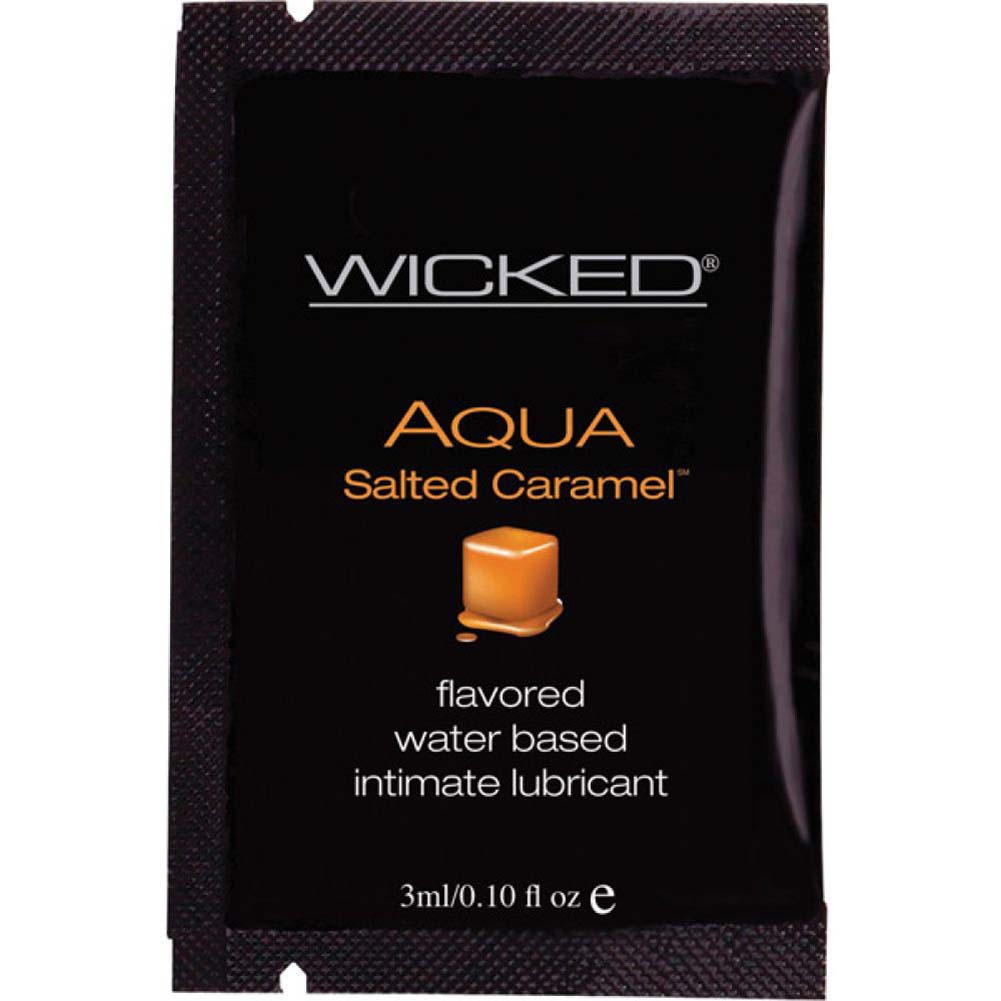 Wicked Sensual Care Collection Aqua Waterbased Lubricant 3 Ml Salted Caramel - View #1