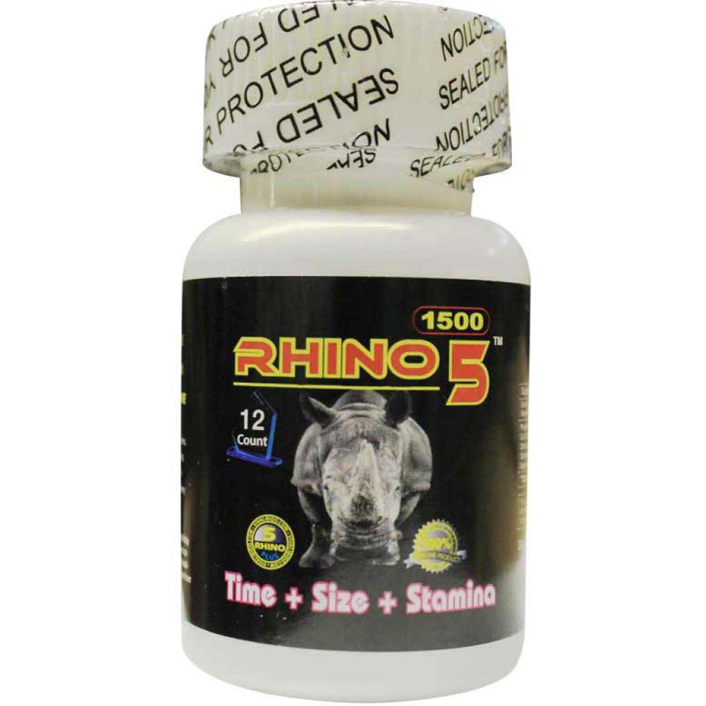 Rhino 5 Sexual Male Enhancer Supplement Bottle of 12 Pills - View #1
