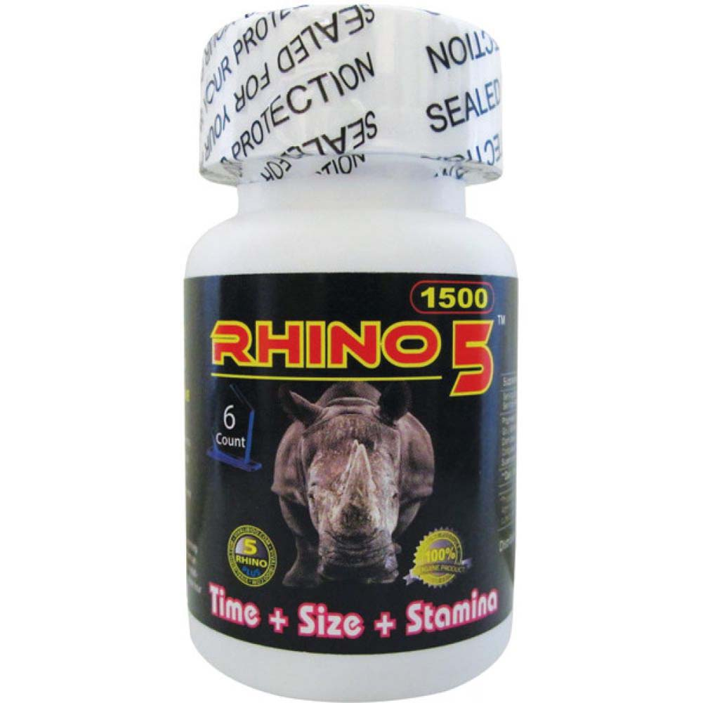 Rhino 5 Sexual Male Enhancer Supplement Bottle of 6 Pills - View #2