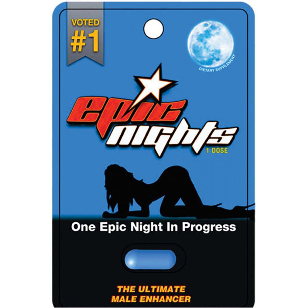 Epic Nights Male Sexual Enhancer. 1 Tablet Blister - View #1